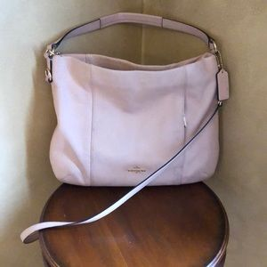 Coach blush pink purse w/ shoulder strap